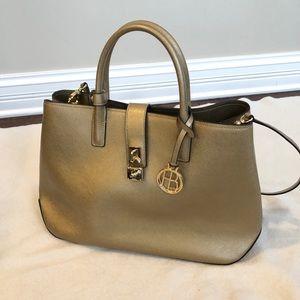 Henri Bendel Gold handbag